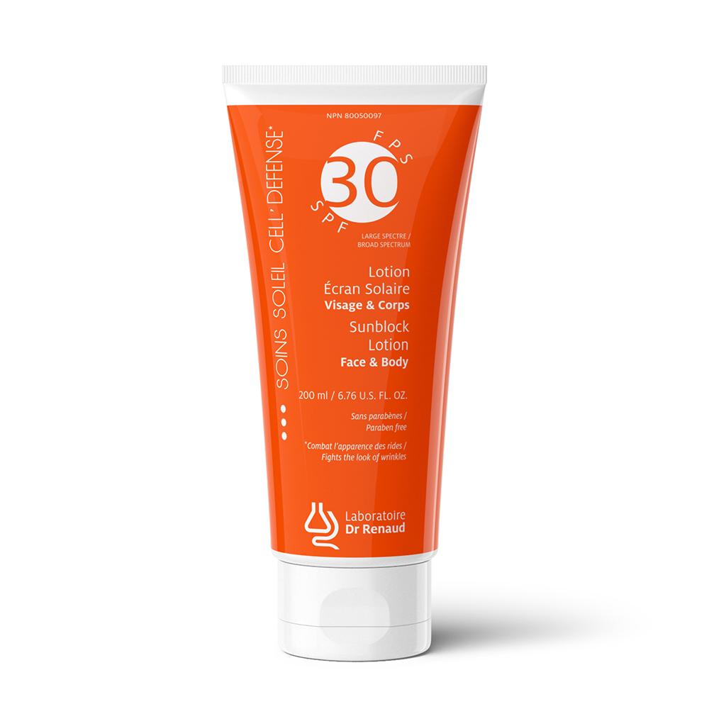 Sunblock Lotion Broad Spectrum SPF 30 • Face & Body - Laboratoire Dr Renaud, La Creme de la Creme Penticton